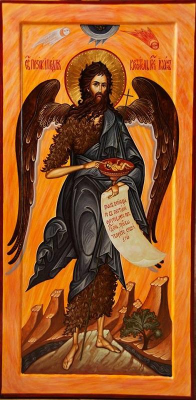 Іоанн Хреститель. Ангел пустелі. Ікона