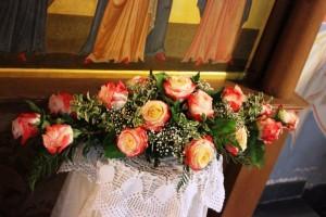 Квіти біля кіота напольного