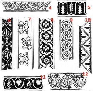 Орнаменти різьби, 9 варіантів